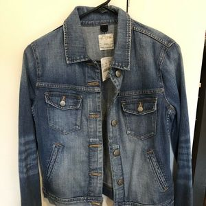 NWT J.Crew Womens Denim Jean Jacket Size XS